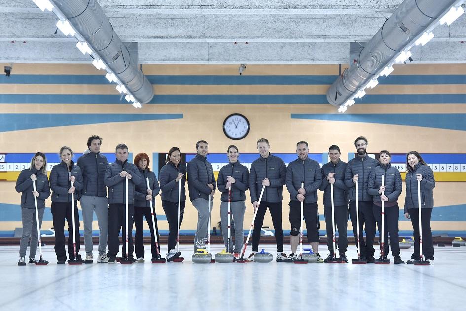 Activité curling pour la Team Envinergy