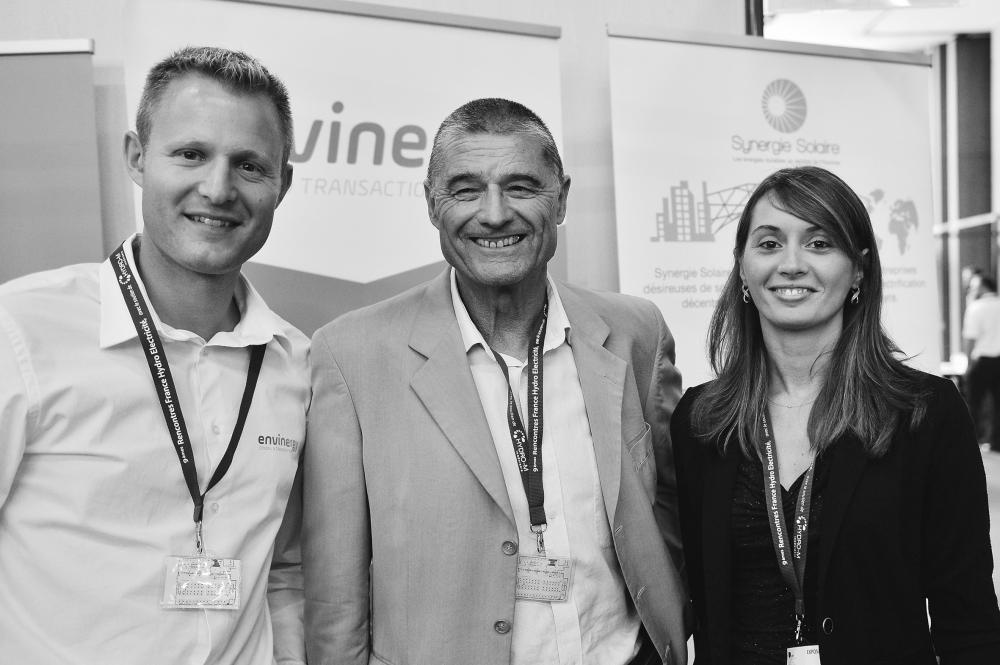 Antoine Guibert & Claude Blanc Coquand Président EAF et Clémence Contréras