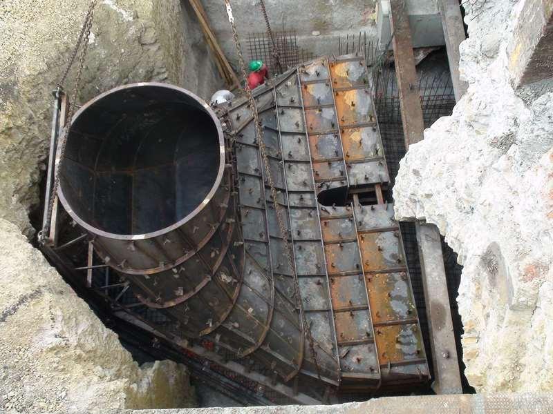 aspirateur d une turbine Kaplan sur la Garonne