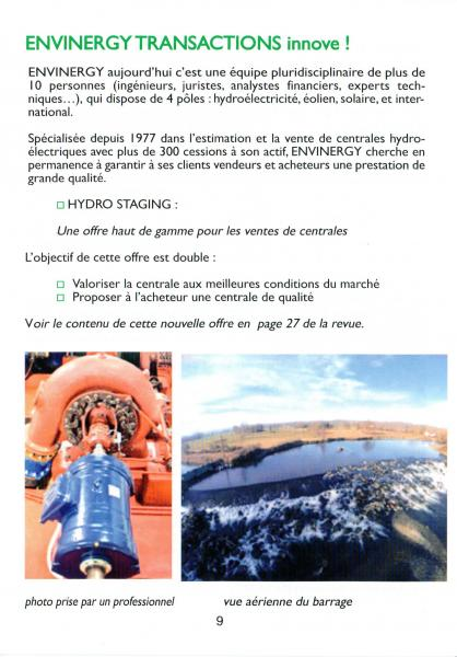 Avril 2016, HydroEnergie Revue N° 108, p9