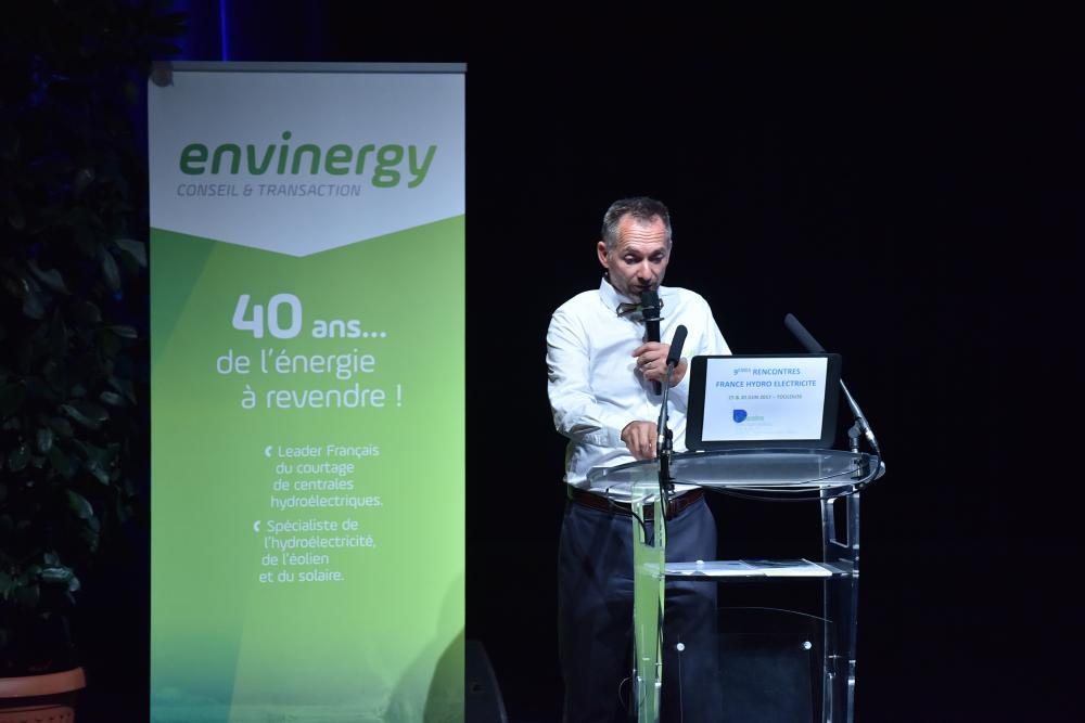 Eric Reisse speaker Envinergy des trophées de la petite hydro