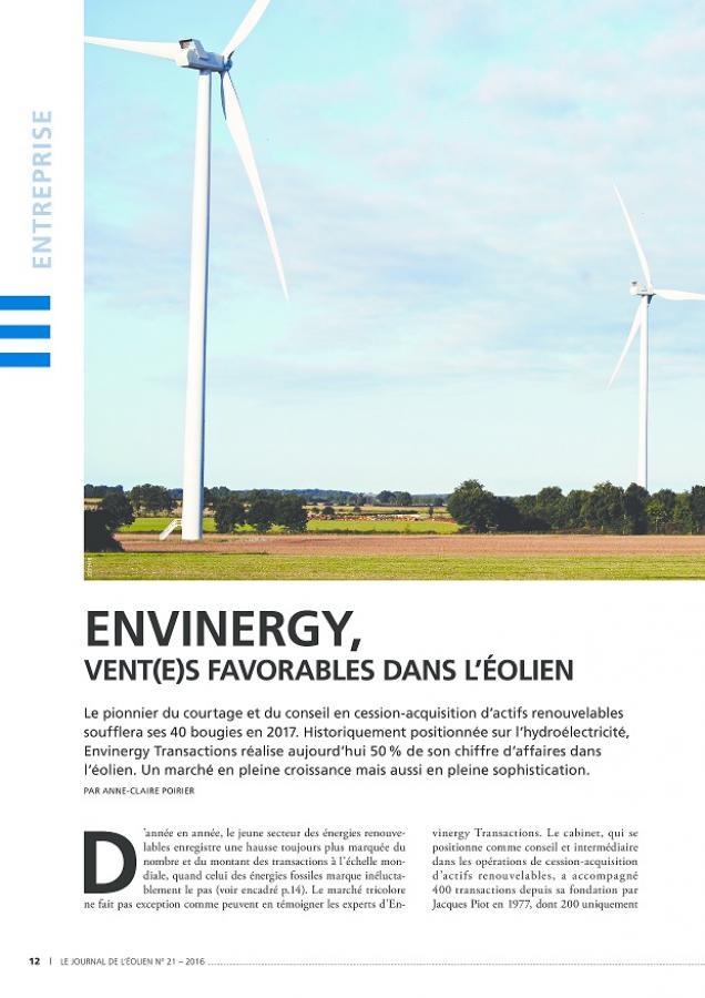 Interview Nicolas Picard et Eric Reisse pour Le Journal de l'Éolien N°21 p12
