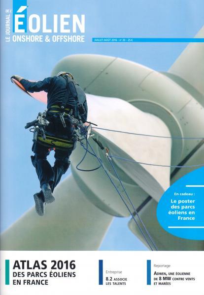 Juillet-Août 2016, Le Journal de l'Éolien, N° 20