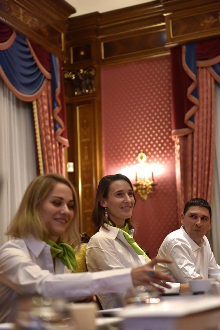 Tiffanie Cruard-Pradet, Elodie Geffray et Mickael Batifouillé