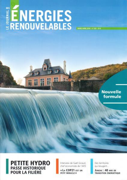 Mars-Avril 2016, Le Journal des Énergies Renouvelables, N° 232