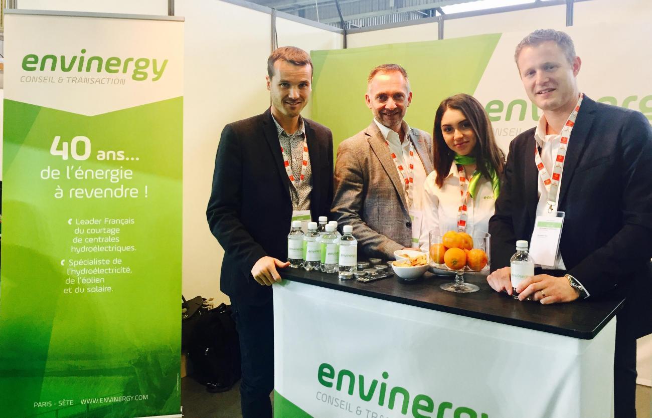 Nicolas Picard, Eric Reisse, Wassila Akhouad et Antoine Guibert au salon Energaïa à Montpellier