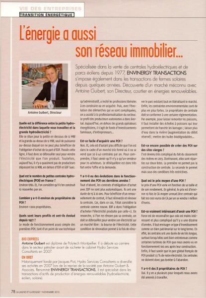 Novembre 2013, La Jaune et La Rouge, N° 689, p78