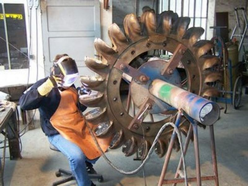 recharge d'une roue Pelton