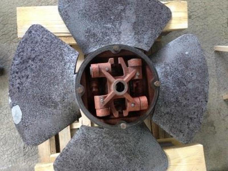 roue d'une turbine Kaplan après sablage