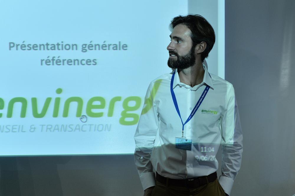 Simon Collot présentant Envinergy
