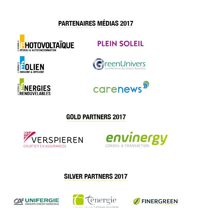 Synergie Solaire, Partenaires 2017