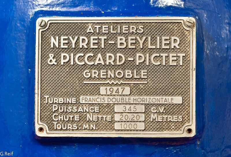 turbine Francis Neyret Beylier Piccard Pictet