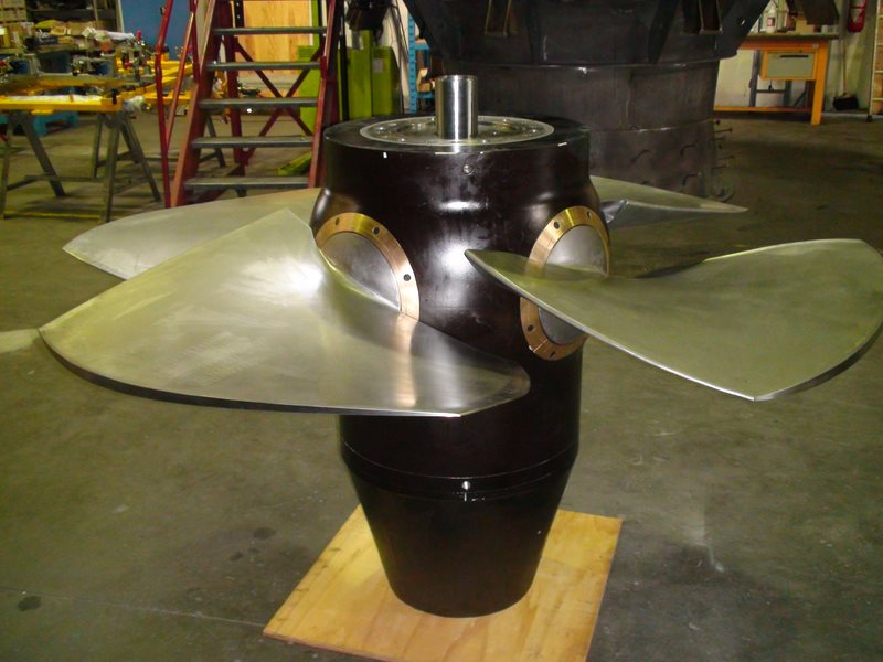 turbine Kaplan à pales variables fabriquée par Bouvier