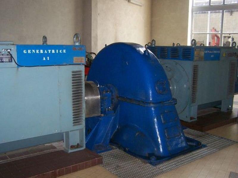 turbine Pelton avec 2 génératrices