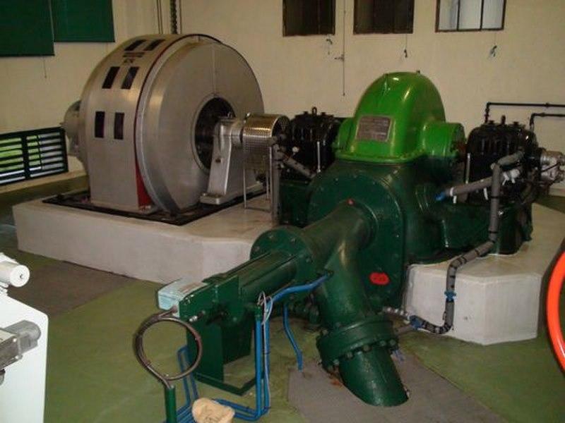 turbine Pelton Neyrpic et son alternateur
