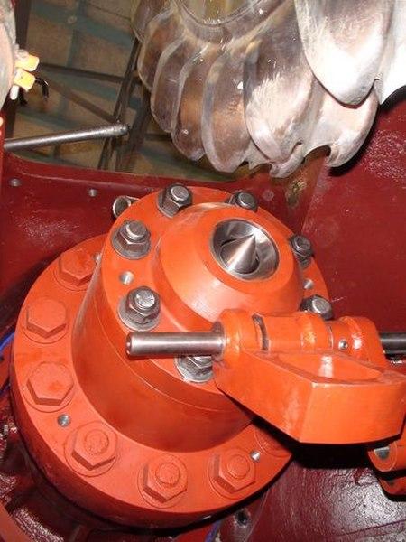 turbine Pelton et son injecteur
