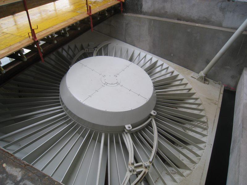 turbine VLH en cours de montage