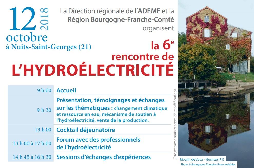 6ème Rencontre de l'hydroélectricité - 12/10/2018