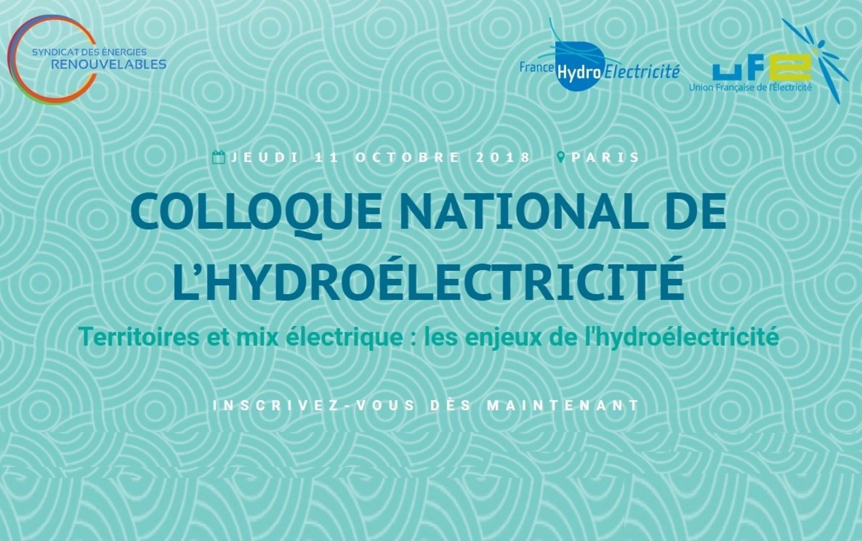Colloque national de l'hydroélectricité - 11/10/2018